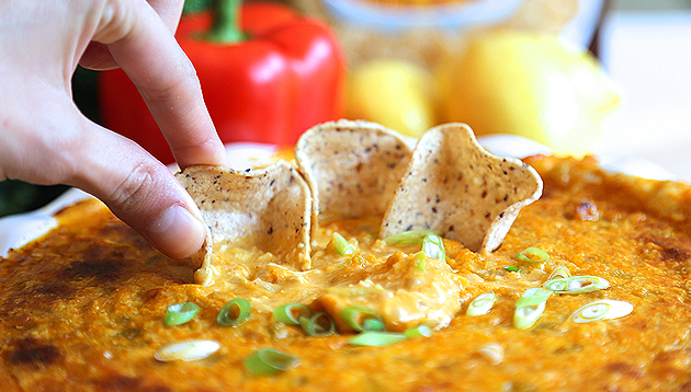 Dippin' Chips Chicken Enchilada Dip"
