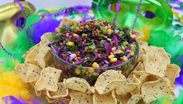 Dippin chips mardi gras salad party tizers dippin chips recipes dippin chips mardi gras salad forumfinder Image collections